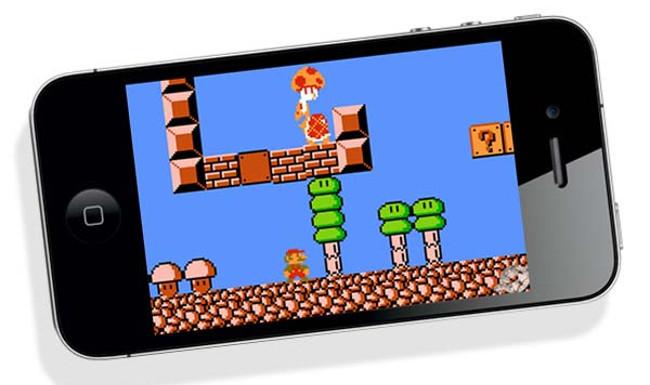 Super-Mario-Brothers-8-bit-on-iPhone